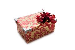 Bright gift box Stock Photos