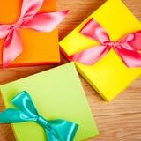 Bright gift box Royalty Free Stock Photography