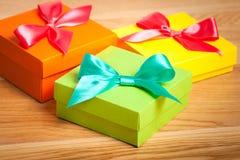 Bright gift box Stock Photos