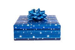 Bright gift box isolated on white Stock Photo