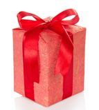Bright gift box with red bow Stock Image