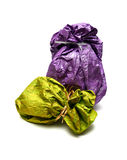 Bright gift sack Royalty Free Stock Photos