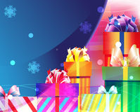 Bright gifts with beautiful ribbons Royalty Free Stock Photos