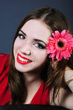 Bright girl with flower Stock Image