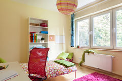 Bright girl room with white furniture Royalty Free Stock Photos