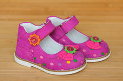 Bright girl's sandals Stock Images