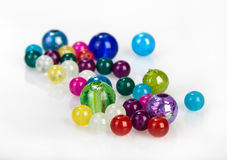 Bright glass beads Royalty Free Stock Photos