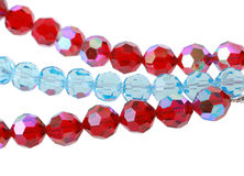 Bright glass beads. On a white background Royalty Free Stock Images