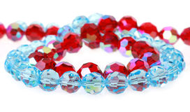 Bright glass beads. On a white background Stock Image