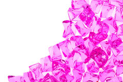 Bright glass stones. Pink bright glass stones background, abstract Stock Image