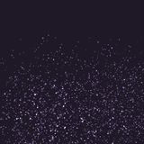 Bright glittering star shimmer over dark background. Vector illustration Stock Photography