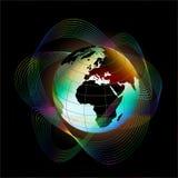 Bright Globe. On black background Royalty Free Stock Image