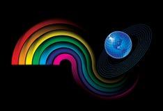 Bright globe. Vector decorative illustration for graphic design Stock Photography