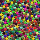 Bright glossy 3d dots royalty free stock photos