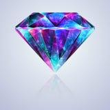 Bright Glossy Crystal Zirconium Gemstone royalty free illustration