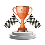 Bright glossy winner cup for third place Stock Image