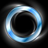 Bright glow blue web circle element. Logo Stock Photography
