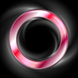 Bright glow red web circle element. Logo Stock Images