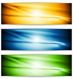 Bright glowing banners Stock Image