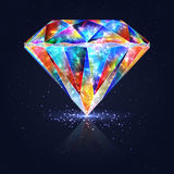 Bright Glowing Colorful Gemstone Quartz. Magical Crystal Stock Photography