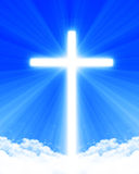 Bright glowing cross Stock Photo