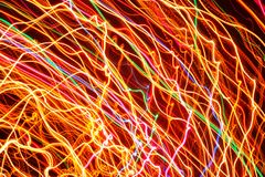 Bright Glowing Curved Lines as Background Stock Photo