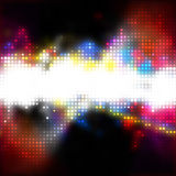 Bright Glowing Dots Layout royalty free illustration