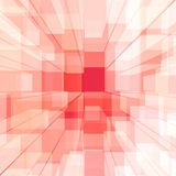 Bright Glowing Pink Glass Background With Artistic Cubes Or Squa Royalty Free Stock Photography