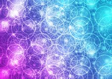 Bright glowing shiny rings abstract background. Bright blue and purple glowing shiny rings abstract vector background Stock Image