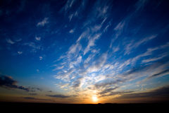 Bright Glowing Sunset Royalty Free Stock Photography