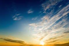 Bright glowing sunset Stock Photos