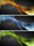 Bright glowing wavy banners Stock Images