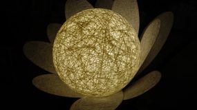 Bright glowing white round lamp flower royalty free stock photo