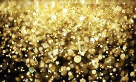 Bright gold glitter Royalty Free Stock Images