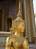 Bright Gold Iconic Thai Woman Statue stock image