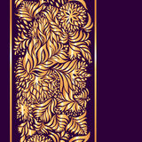 Bright gold pattern on a purple background Royalty Free Stock Photography