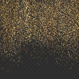 Bright gold shimmer abstract transparent particle mist backgroun Royalty Free Stock Photo