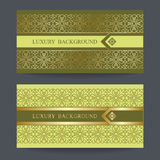 Bright golden background on green background Royalty Free Stock Image