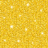 Bright golden glittering seamless pattern. Bright vector golden glittering seamless pattern. Abstract elegant shiny gold sparkles texture for textile, wrapping royalty free illustration