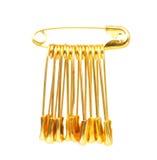 Golden pins Royalty Free Stock Photos
