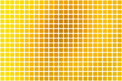 Bright golden yellow abstract rounded mosaic background over white stock illustration