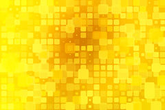 Bright golden yellow glowing various tiles background Royalty Free Stock Photo
