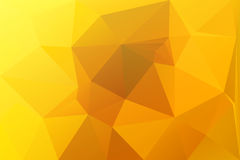 Bright golden yellow low poly background stock photo