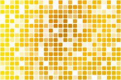 Bright golden yellow occasional opacity mosaic over white Stock Photos