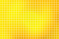 Bright golden yellow square mosaic background over white vector illustration