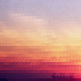 Bright Gradient Abstract Texture of Symmetric Triangles. Background of Geometric Shapes Colors of Sunset Sky with Dust Shimmering. Geometric Concept Stock Images