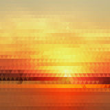 Bright Gradient Abstract Texture of Symmetric Triangles. Background of Geometric Shapes Warm Sunny Colors. Geometric Concept Stock Photography