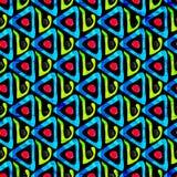 Bright graffiti geometric seamless pattern grunge effect Stock Photography