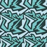 Bright graffiti geometric seamless pattern grunge effect Royalty Free Stock Photography
