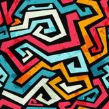 Bright graffiti seamless pattern with grunge effect Royalty Free Stock Photos